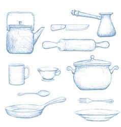 Kitchenware Stock vector image
