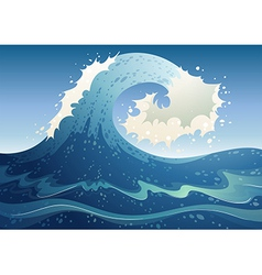A wave abstract vector image