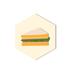 abstract food icon vector image