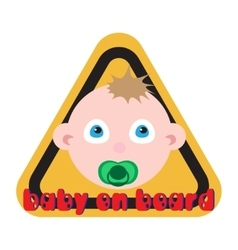 Baby on board sign yellow background vector image