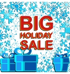 Big winter sale poster with big holiday sale text vector