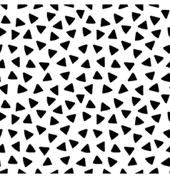 Black and white triangles hand drawn simple vector