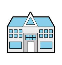 blue medical center cartoon vector image