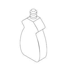 Bottle for dishwashing icon isometric 3d style vector