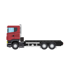 cargo delivery truck with platform vector image
