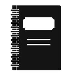 Closed spiral notebook icon simple style vector