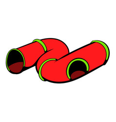 colorful tube a playground icon icon cartoon vector image