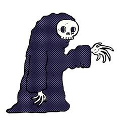 Comic cartoon spooky halloween costume vector
