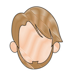 Hand drawn portrait man face vector