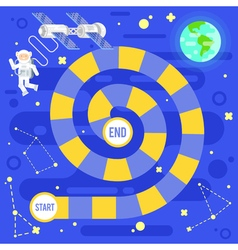 Kids science and space board game vector