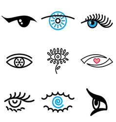 logo icons eyes vector image vector image