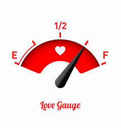 Love gauge valentines day card design element vector