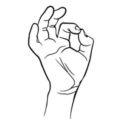 Man hand showing ok sign vector