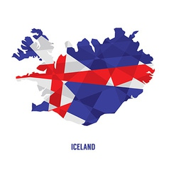Map of Iceland vector image vector image
