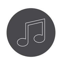 Music icon outline vector