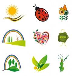 natural design elements vector image