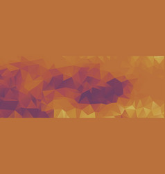 Polygon background purple and light orange wide vector