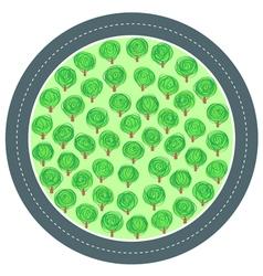Road trees circle vector