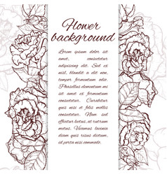 rose hand drawn vector image