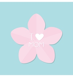 Sakura pink flower Japan blooming cherry blossom vector image
