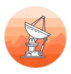 Satellite dishes on the white background vector