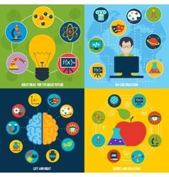 Science education set vector image