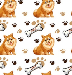 Seamless dog vector image vector image