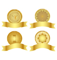 Set of golden design elements vector image