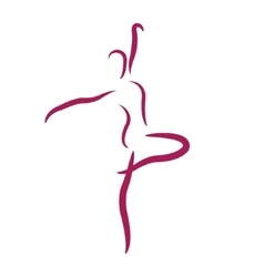 Sketched dancing woman vector image