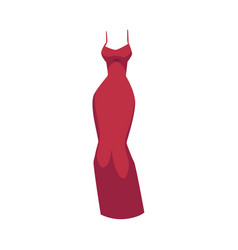 slim fit evening gown beautiful long red dress vector image
