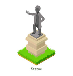 statue icon isometric style vector image vector image