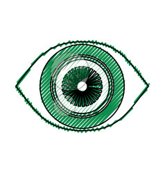 Surveillance eye symbol vector