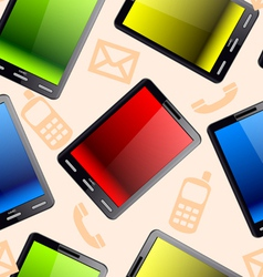 vertical tablet computer seamless wallpaper vector image vector image