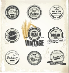 vintage bakery labels vector image
