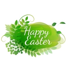 watercolor easter decoration vector image vector image