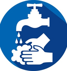 Please wash your hands icon vector