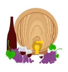 Still life with wine vector