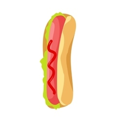 Hot Dog Icon in Flat vector image