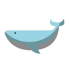Whale animal maritime icon vector
