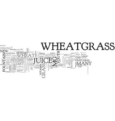 Wheatgrass the new fountain of youth text word vector