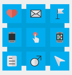 set of simple design icons elements smartphone vector image