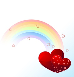 Valentines day rainbow vector image