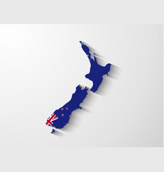New zealand map with shadow effect vector
