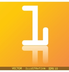 Number one icon symbol flat modern web design with vector