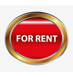 For rent button vector