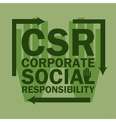 Logo acronym corporate social responsibility vector