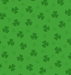 Pretty irish background with clovers leafs vector image