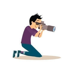 Young photographer in flat style vector