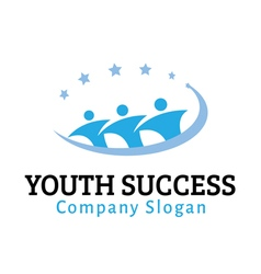 Youth success design vector