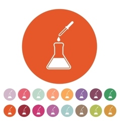 The chemistry icon test and analysis genetics vector